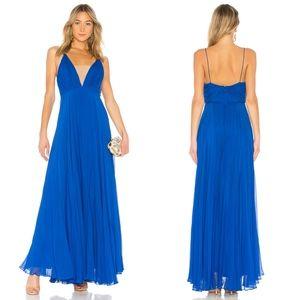 NEW Jill Stewart Cobalt Pleated Empire Waist Gown